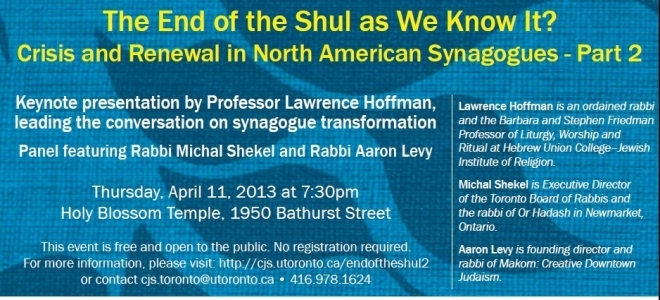 The End of the Shul As We Know It